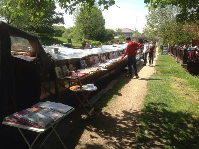 The Book Boat, Book outside for sale