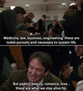 Dead Poets Society - ways to overcome writer's block
