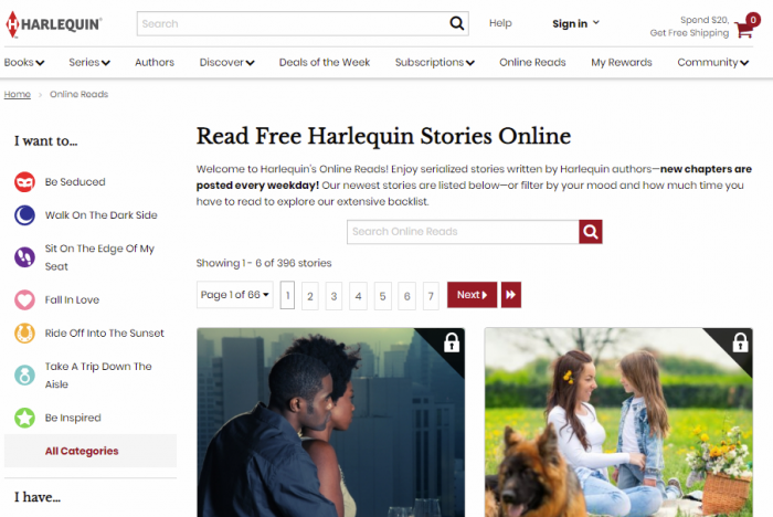 Harlequin - read books for free