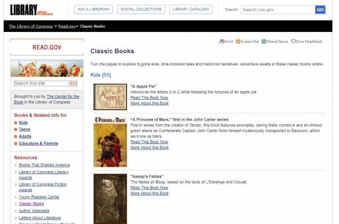 Library of Congress - Free online books