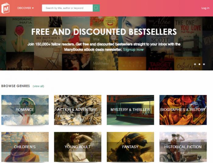 Manybooks - Free online books
