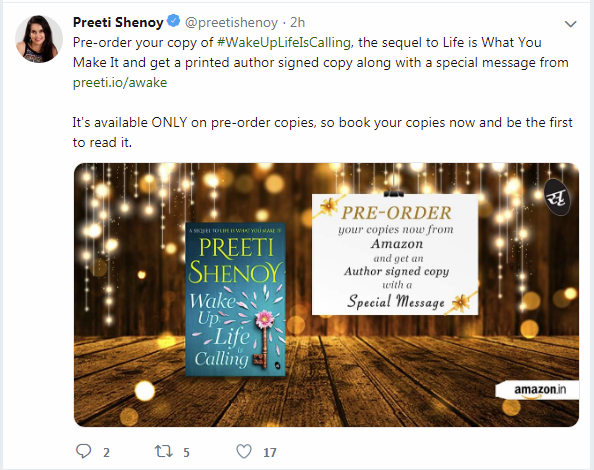 Wake up Life is Calling by Preeti Shenoy Review