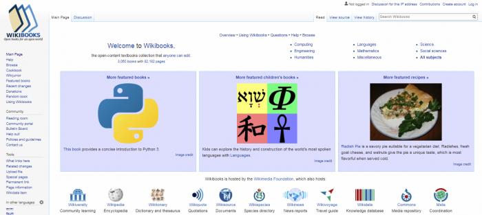 Wikibooks - free books website