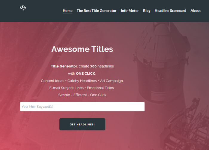 Awesome book Titles Generator using keywords