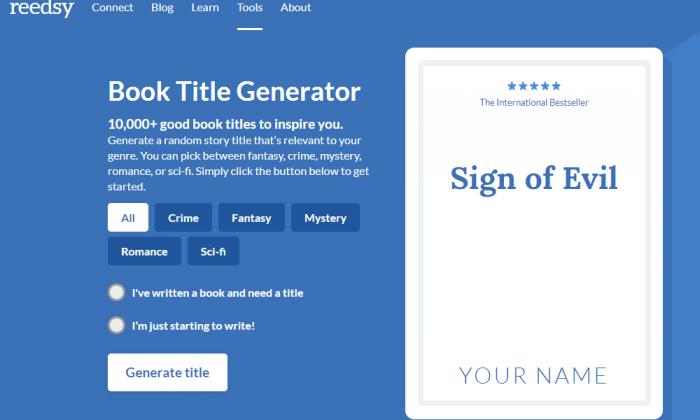 Book Title Generator | List of Top Book Name Generators [FREE]