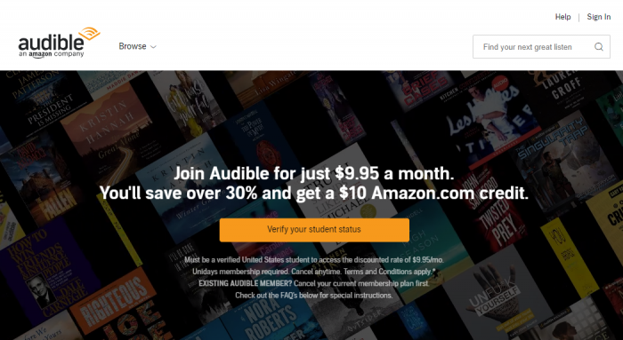 Audible Student Discount | Get Audible for Students @ $9 95/month