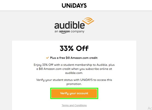 Integrating Unidays with Audible