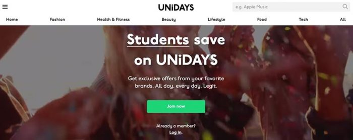 Unidays Sign up for Audible