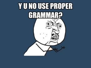 Using Correct Grammar