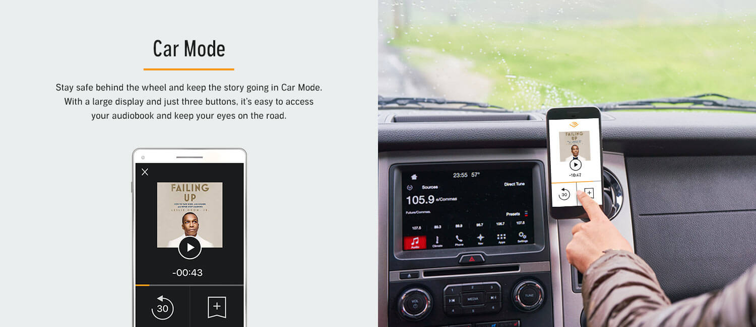 Audible App Car Mode Feature