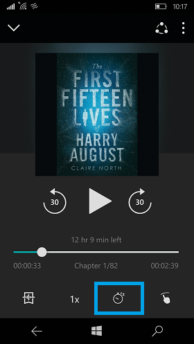 Audible App Sleep Timer Feature