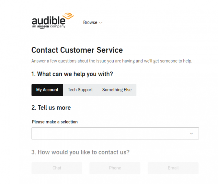 cancel audible membership plan