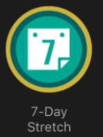 7-day Stretch Badge