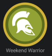 Weekend Warrior Badge