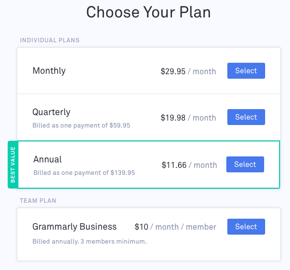grammarly-pricing