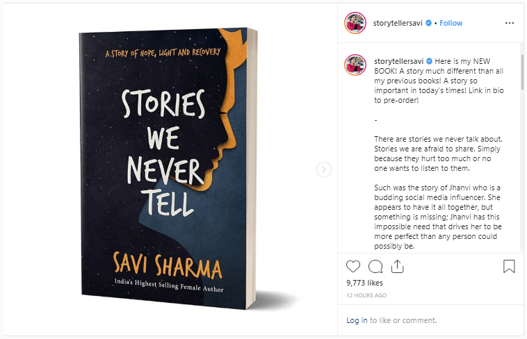 Stories We Never Tell book by Savi Sharma